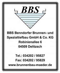 BBS Benndorfer Brunnen- und Spezialtiefbau GmbH & Co. KG förderer des Blasmusikverein Schenkenberg e.V.KG