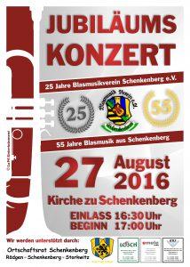 Jubiläumskonzert 25 Jahre/55 Jahre Blasmusikverein Schenkenberg e.V. 2016 - Blasmusikverein Schenkenberg e.V.