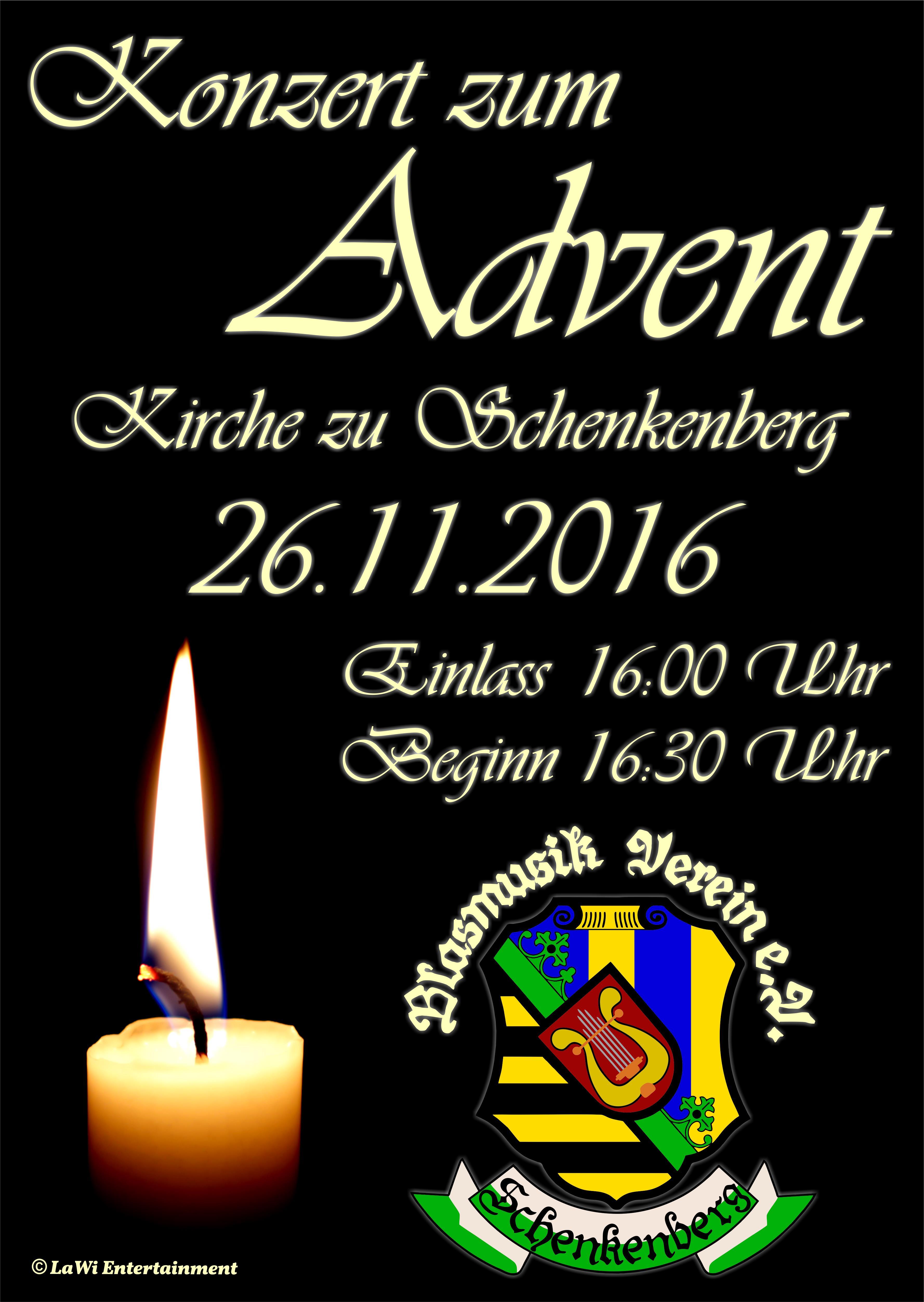 Adventskonzert 2016 - Blasmusikverein Schenkenberg e.V.