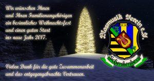 Weihnachtskarte 2016 - Blasmusikverein Schenkenberg e.V.
