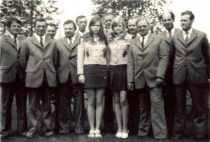 Gruppenfoto Schenkenberg 1961 - Blasmusikverein Schenkenberg e.V.