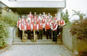 Gruppenfoto Schenkenberg 1991 - Blasmusikverein Schenkenberg e.V.