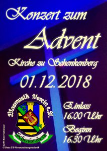 Adventskonzert 2018 - Blasmusikverein Schenkenberg e.V.